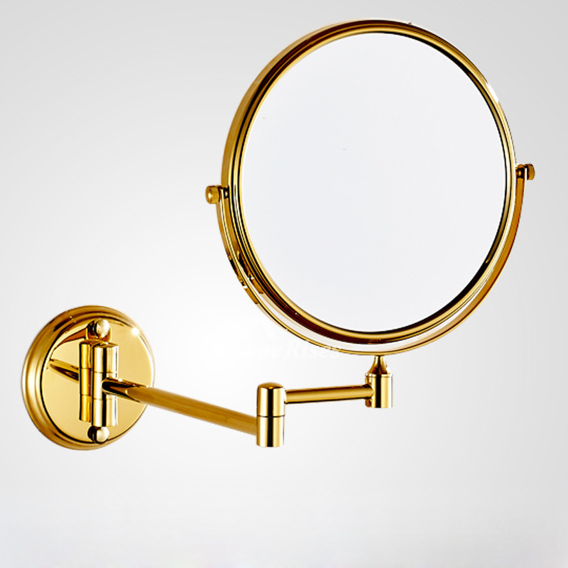 adjustable bathroom mirrors adjustable wall mounted makeup mirror brushed brass 10070