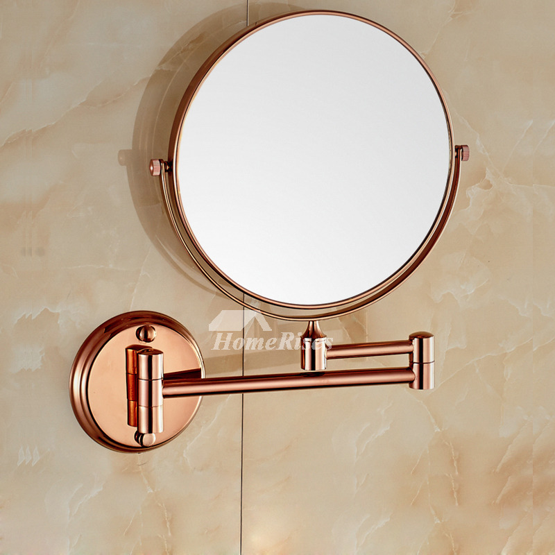 Adjule Wall Mounted Makeup Mirror Brushed Br