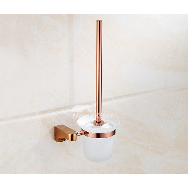 Quality rose gold wall mount brass bathroom accessories set for Quality bathroom fittings