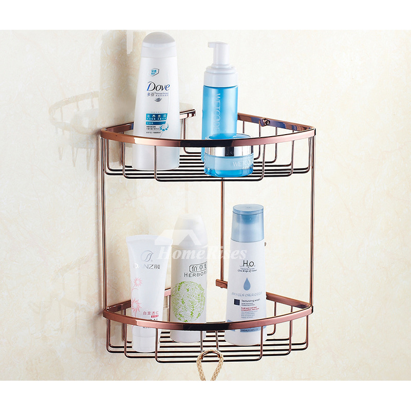 Quality Rose Gold Wall Mount Brass Bathroom Accessories Set