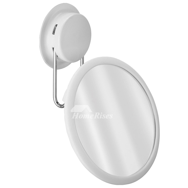 mirror for makeup no drill suction cup white resin 20738