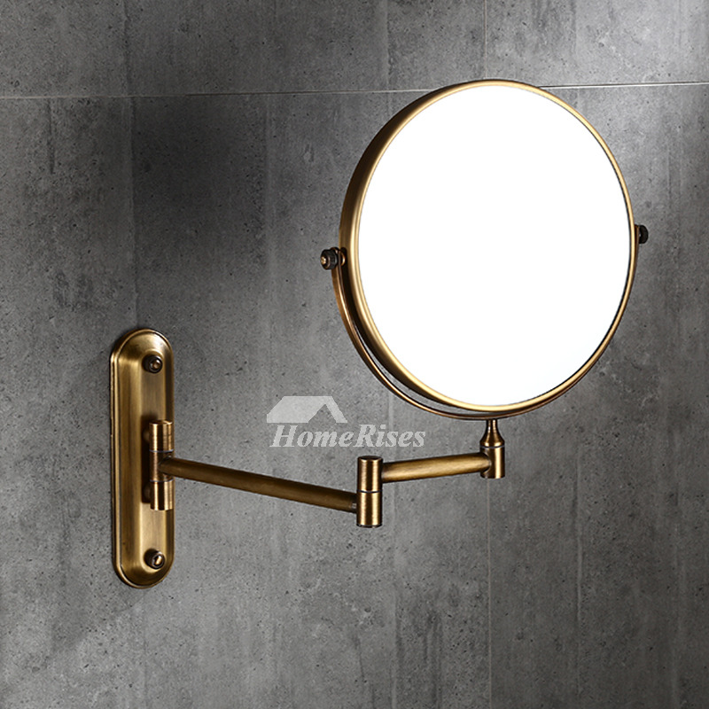brass bathroom mirrors 8 inch no drill gold makeup mirror bathroom brass 12158