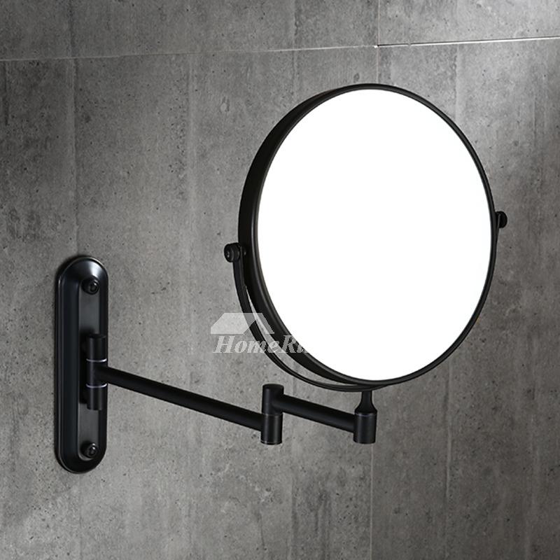 Drill Oil Rubbed Bronze Black Makeup Mirror, Oil Rubbed Bronze Lighted Make Up Mirror