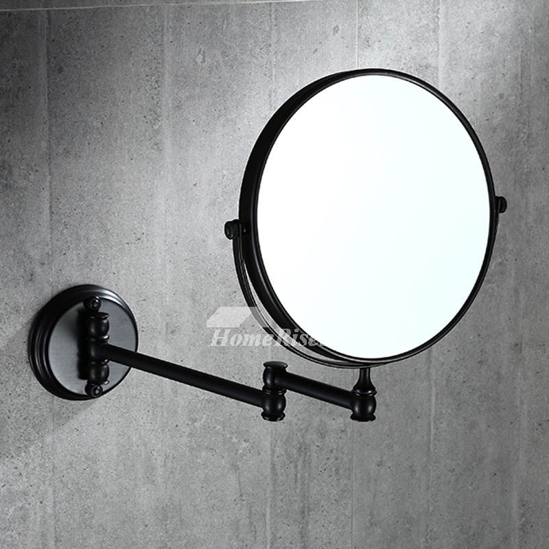 Solid No Drill Oil Rubbed Bronze Black Makeup Mirror