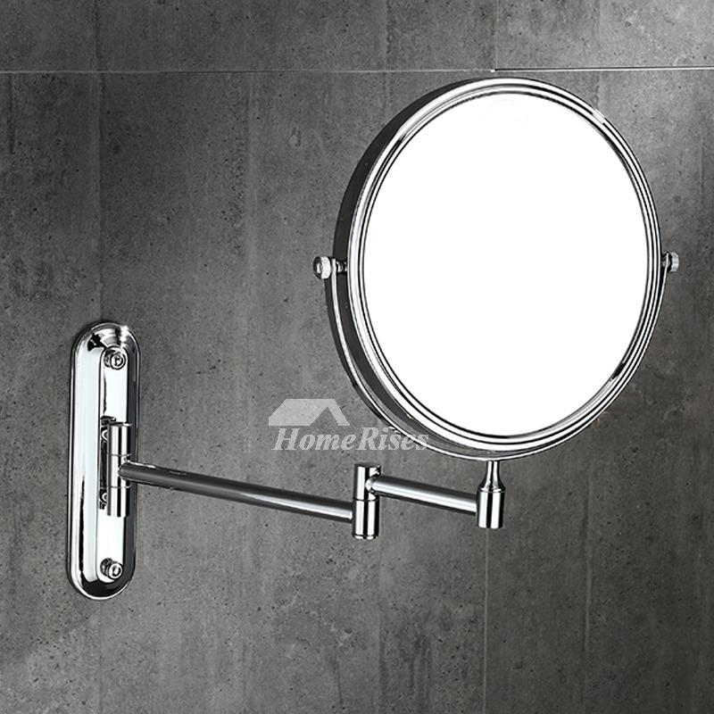 Oiled Bronze Bathroom Mirror: Solid No Drill Oil-Rubbed Bronze Black Makeup Mirror