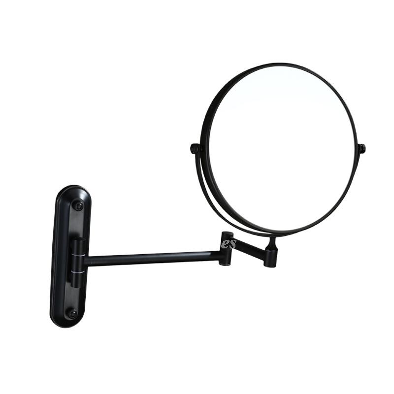 Solid No Drill Oil Rubbed Bronze Black Makeup Mirror