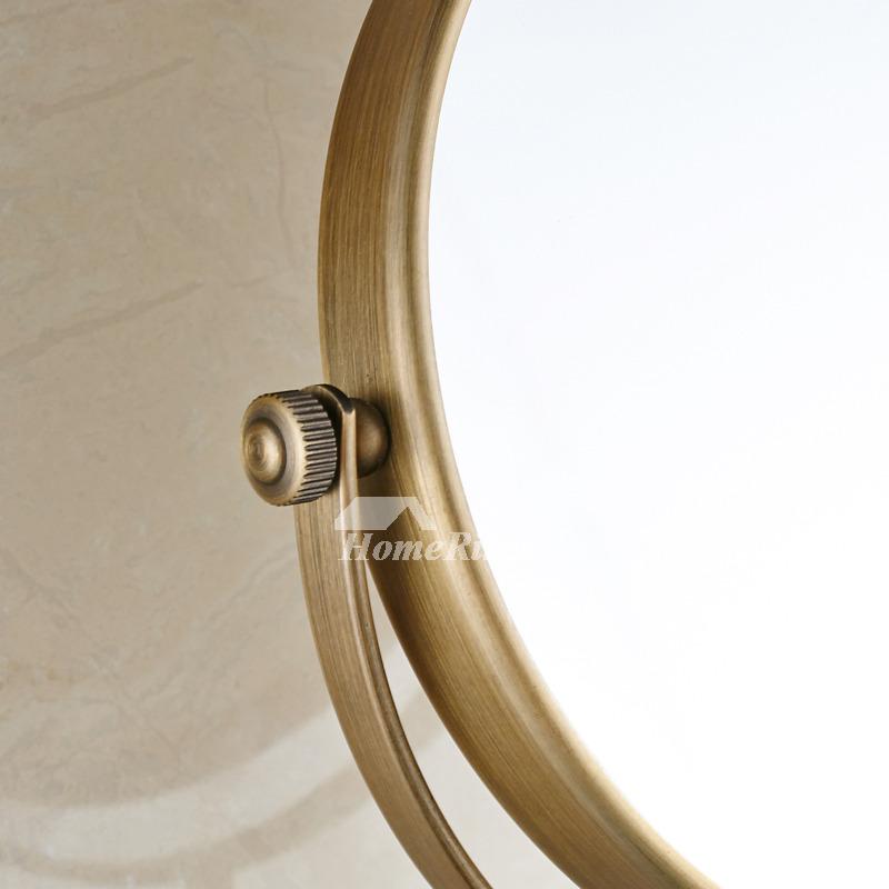 Oiled Bronze Bathroom Mirror: Wall Makeup Mirror Antique Brass Oil-Rubbed Bronze Double