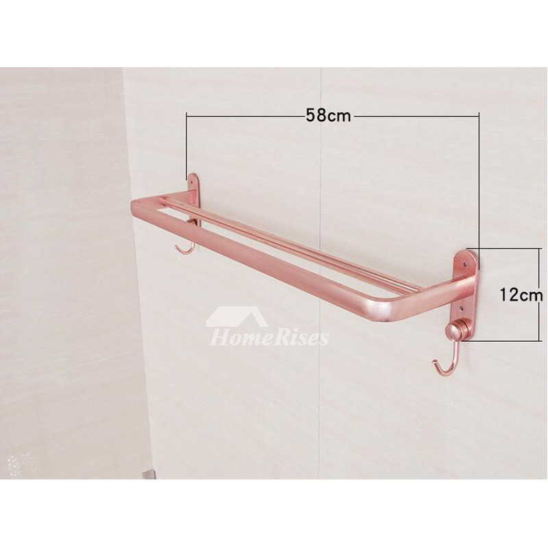 Unique pink bathroom accessories sets aluminum wall mount for Pink toilet accessories
