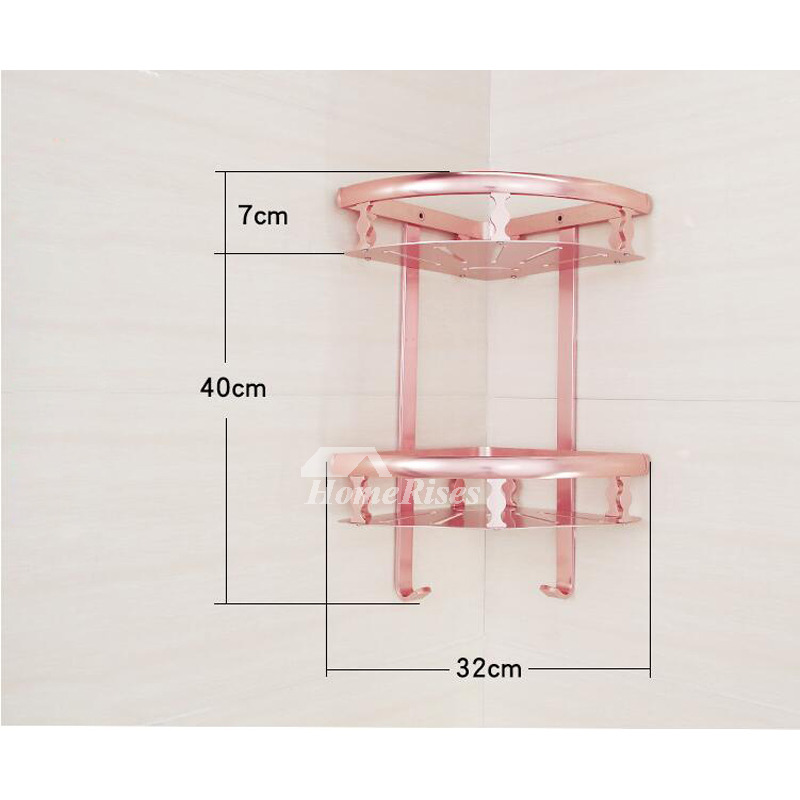 Unique Pink Bathroom Accessories Sets Aluminum Wall Mount