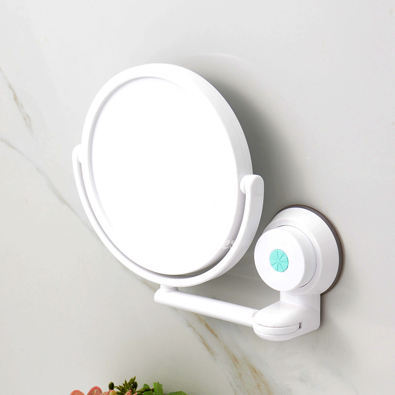 bathroom suction mirror modern suction cup small makeup mirror white bathroom plastic 11543