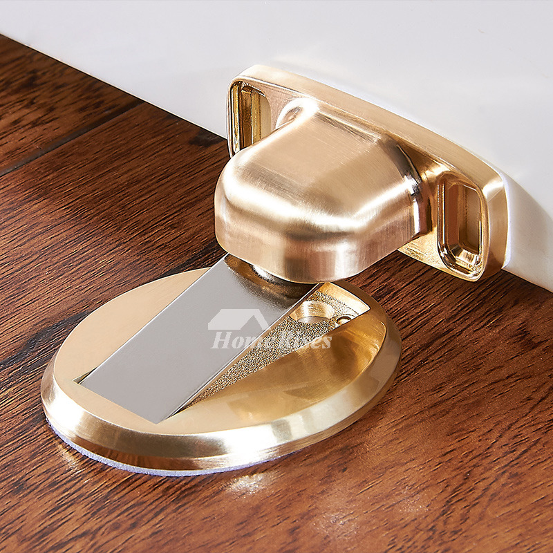 The Door Stop No Drill Hidden Magnetic Zinc Alloy