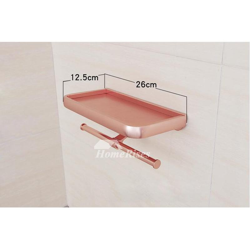 Romantic Aluminum Adjustable Pink Bathroom Accessories Set