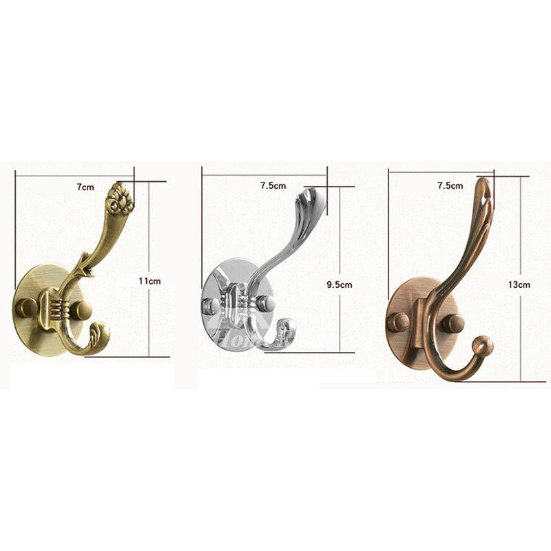Single Robe Hook No Drill Stainless Steel Brushed Bathroom