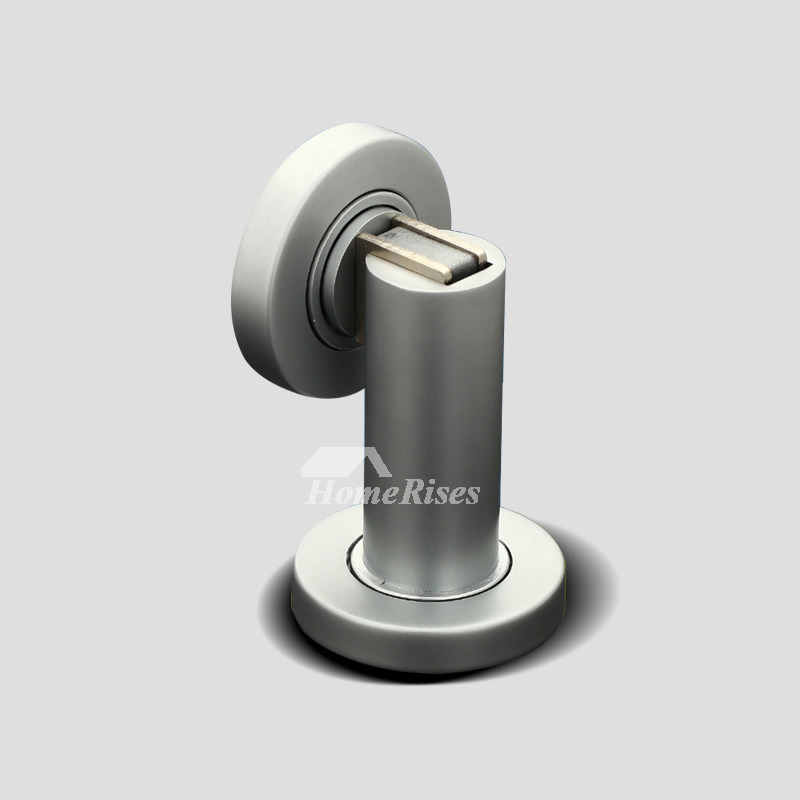 Brushed Nickel Door Stop Magnetic Hidden Floor Mounted