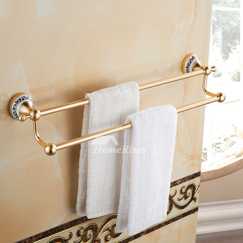 Luxury Carved Gold Bathroom Accessories Sets Aluminum ...