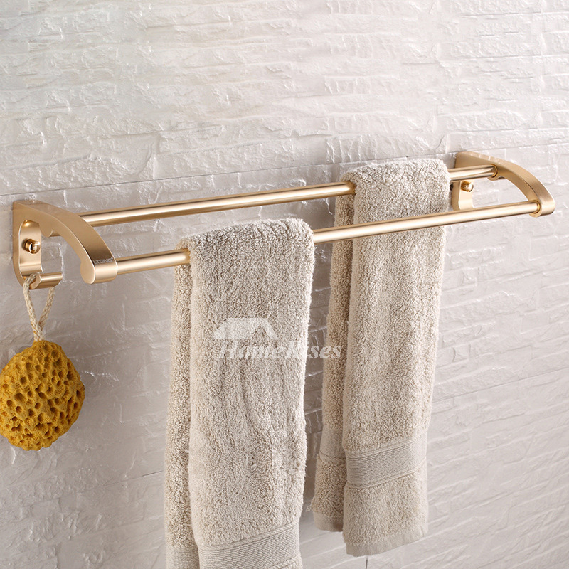 Luxury Polished Brass Bathroom Accessories Sets 6 Piece Wall Mount