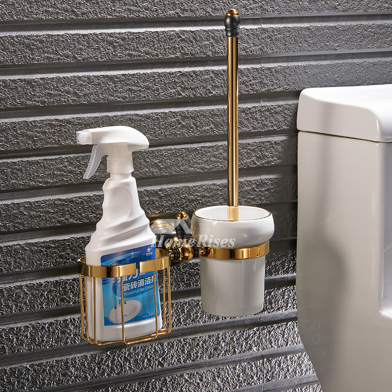 black and gold toilet. Luxury Black And Gold Bathroom Accessories Polished Brass Wall Mount