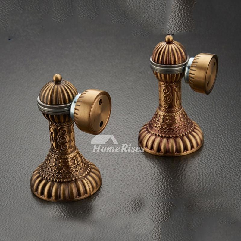 Magnetic Door Stops Floor Mounted Rose Gold Antique Brass