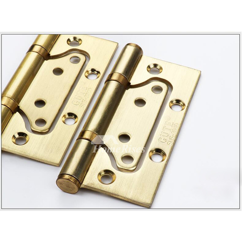 2 Pcs 4 Inch Stainless Steel Brushed Hinge Pin Door Stop