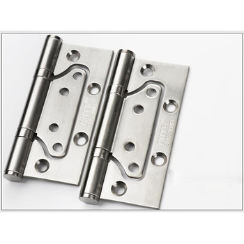 2 Pcs 4 Inch Stainless Steel Brushed Hinge Pin Door Stop Polished Brass