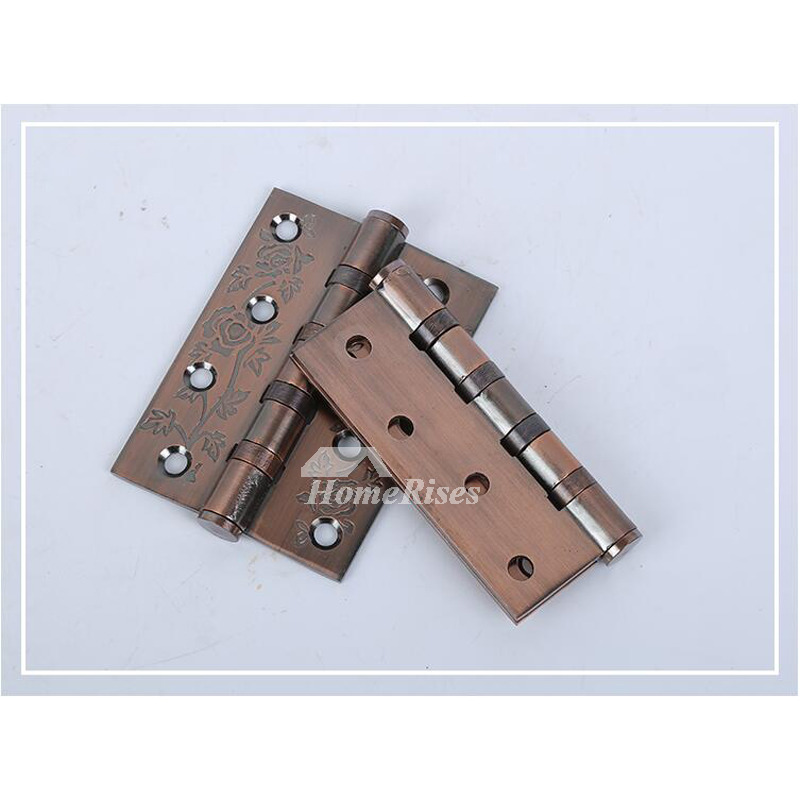 Antique Bronze Door Hinges No Slot 5 inch 2 Pcs Stainless Steel