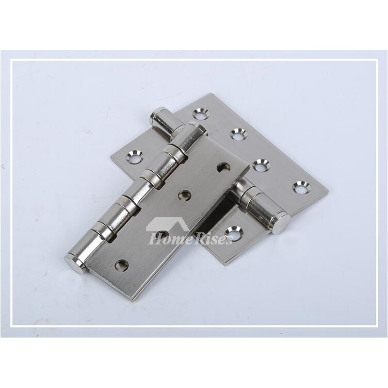 Antique Bronze Door Hinges No Slot 5 Inch 2 Pcs Stainless