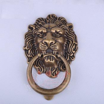 Lion Door Knocker Brass Rose Gold/Antique Bronze Carved