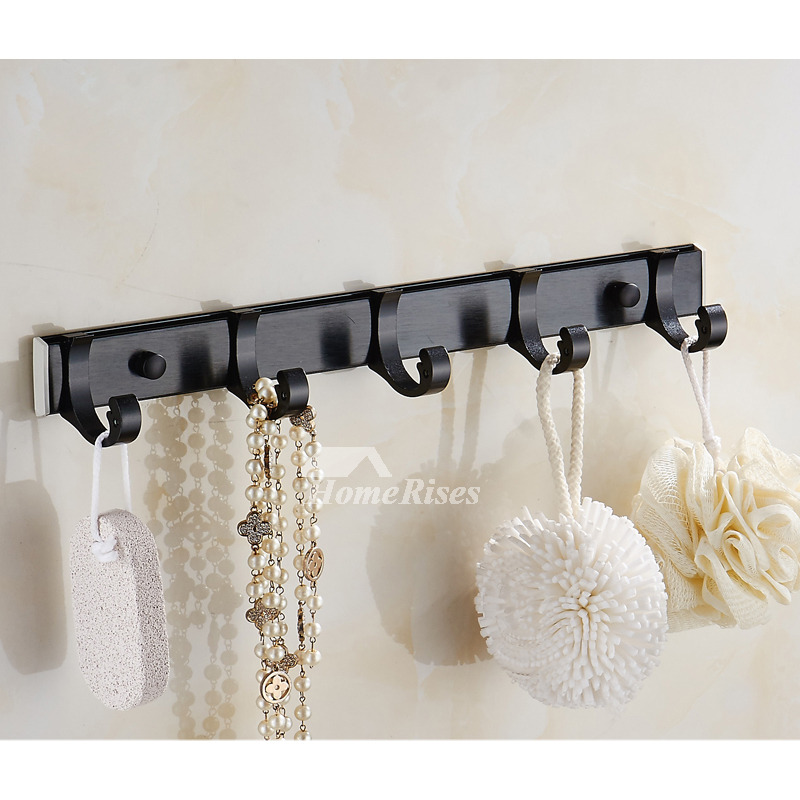 Black Bathroom Accessories Aluminum Carved Wall Mount Oil Rubbed Bronze