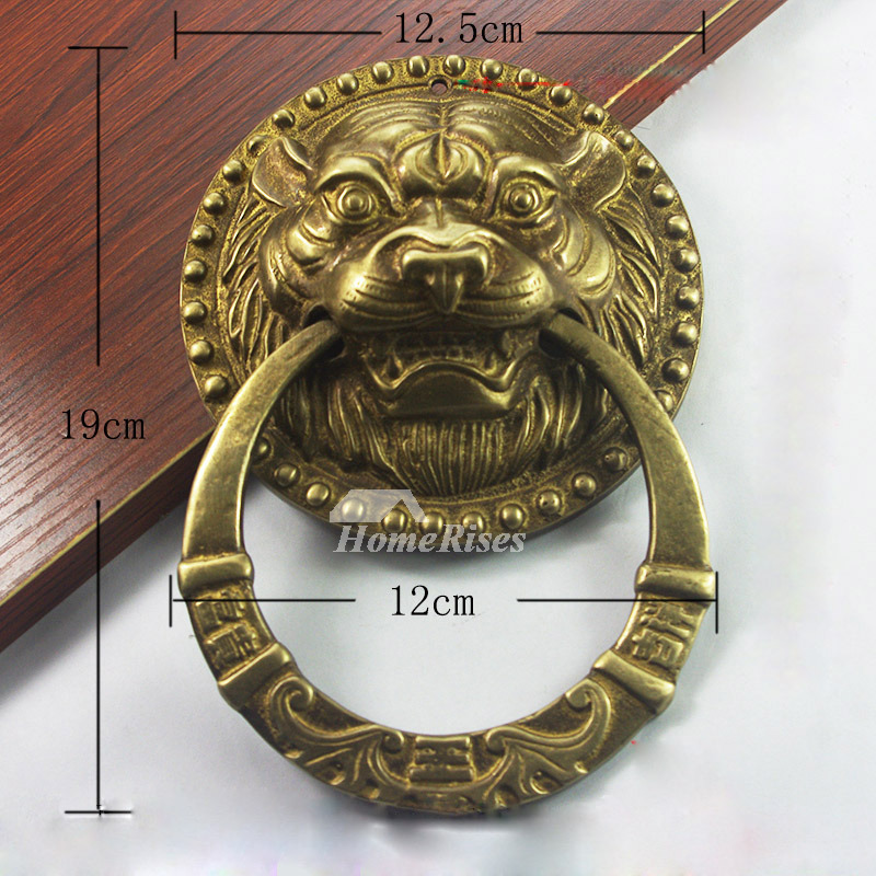 - Antique Door Knockers Carved Lion Shaped Brass Vintage