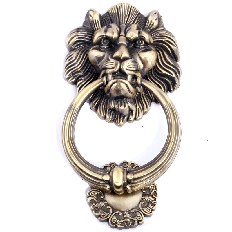 sc 1 st  HomeRises & Asian Antique Bronze Door Knocker Animal Lion Shaped Zinc Alloy