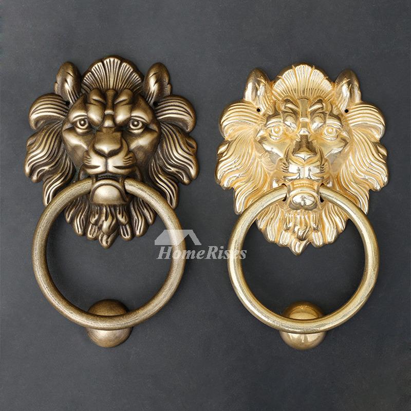 - Antique Brass Door Knocker Polished Brass Lion Shaped Carved