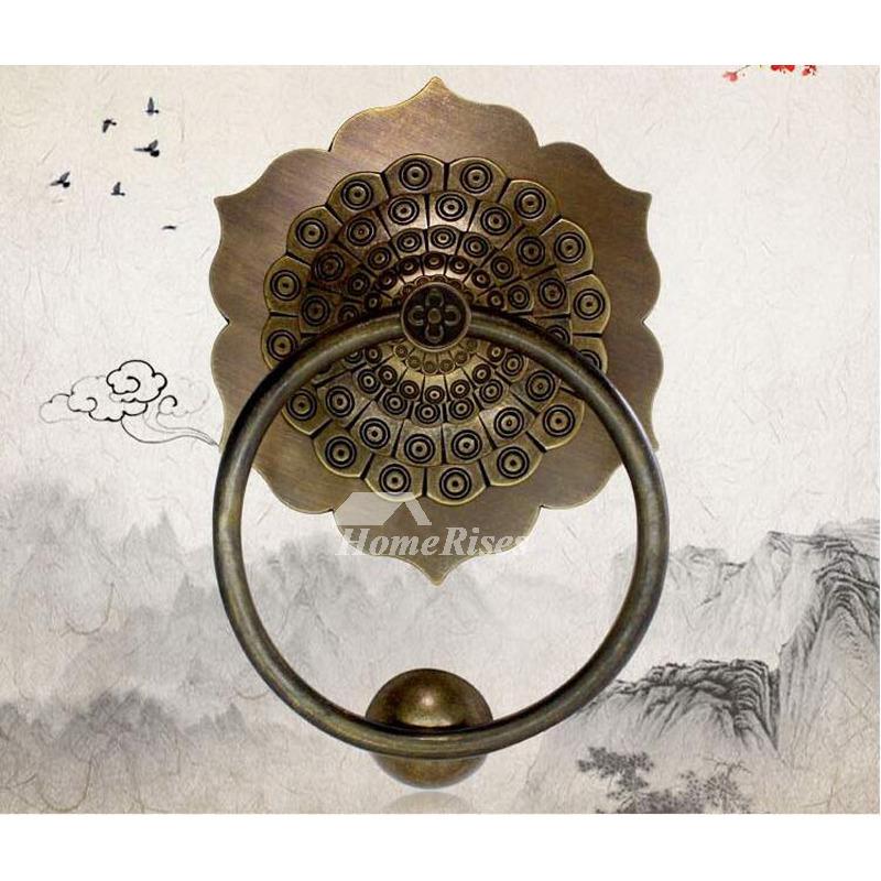 - Luxury Polished Antique Brass Door Knocker Carved