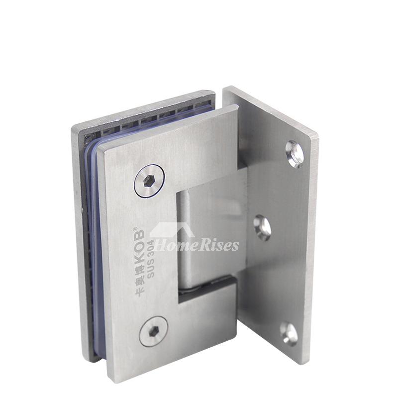 Stainless Steel Glass Bathroom Door Hinges 90 Degrees 2 Pcs