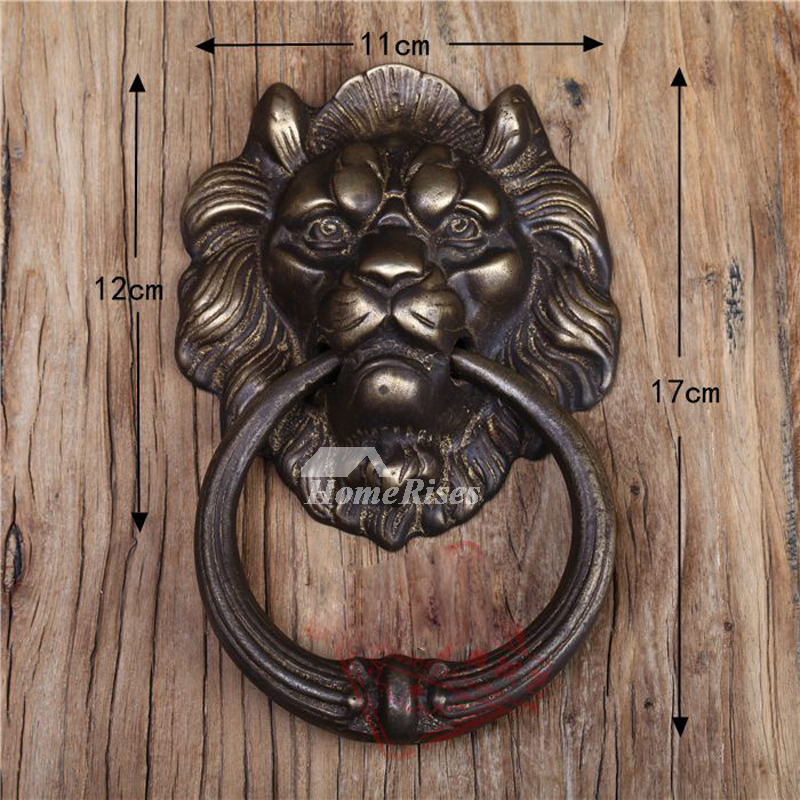 Lion Door Knocker Designer Antique Brass Carved - Brass Door Knocker, Unique Door Knockers For Sale - Homerises.com