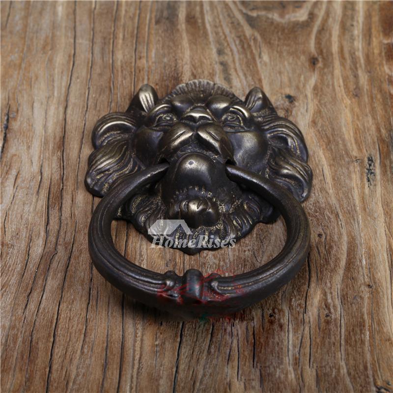& Lion Door Knocker Designer Antique Brass Carved