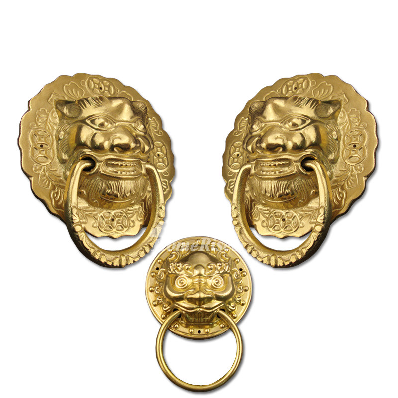 Carved Unique Door Knockers Antique Brass Polished Brass