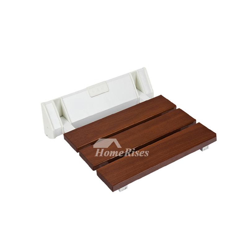 Wood Wall Mounted Folding Shower Seat Plastic Asian Modern