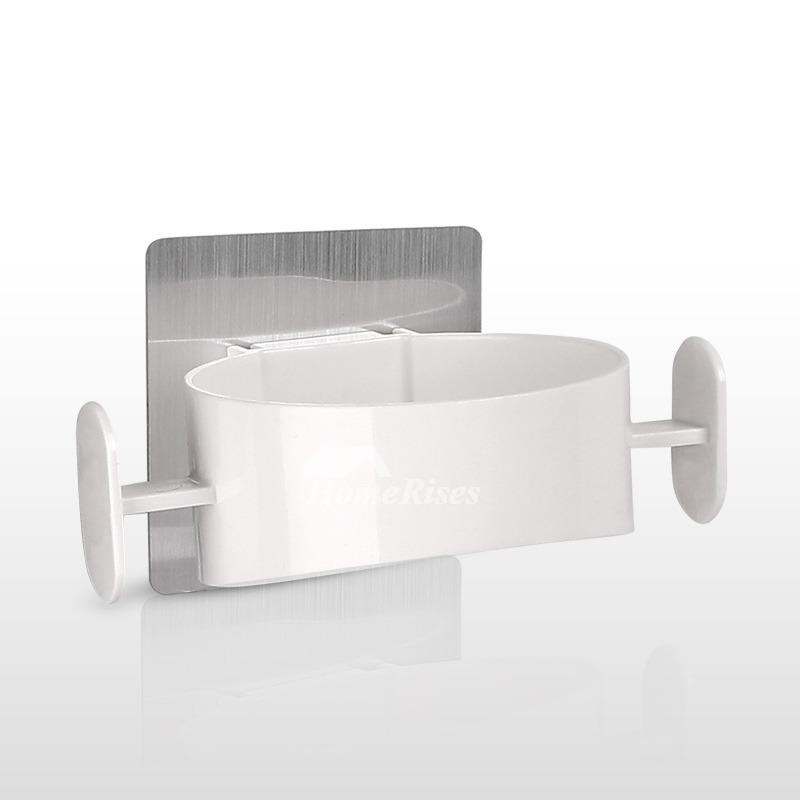 Hair Dryer Holder White ABS Plastic White Bathroom