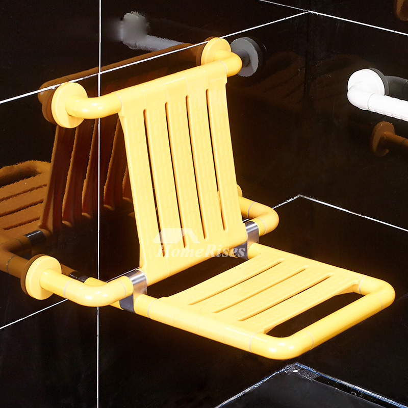With Bench Seat Wall Mount Antiskid Yellow Stainless Steel