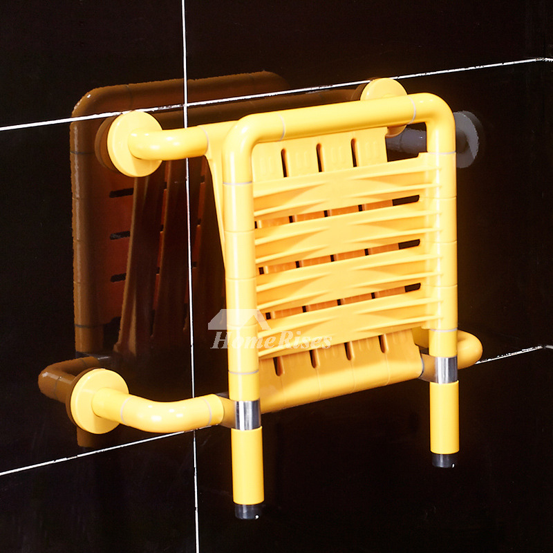 Shower With Bench Seat Wall Mount Antiskid Yellow