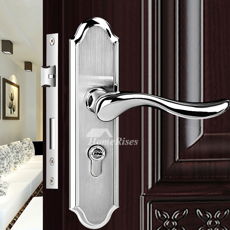 Stainless Steel Door Locks Double Cylinder Deadbolt Brushed Silver