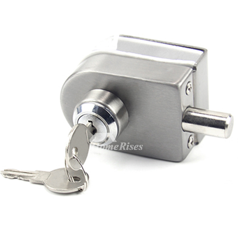 Double Door Lock Stainless Steel Silver Brushed Simple Solid