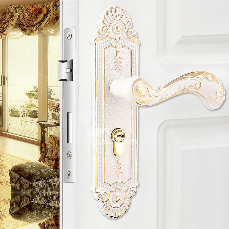 Modern Carved Ivory Best Mortise Locks Bedroom Silent