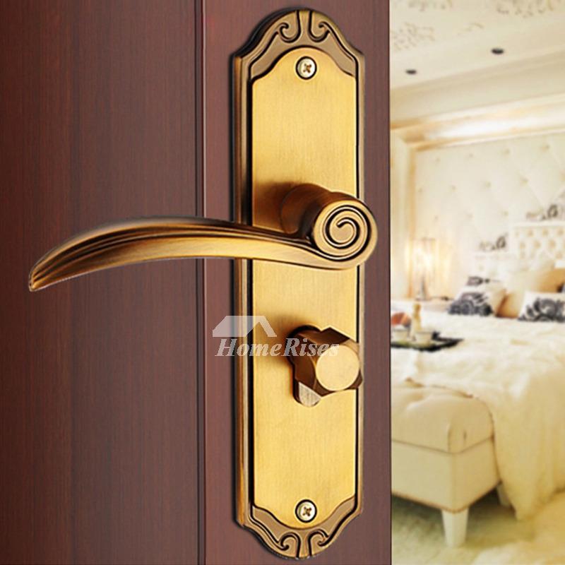 Bedroom Lock. Smooth Antique Brass Bronze Silent Bedroom Door Lock Zinc Alloy