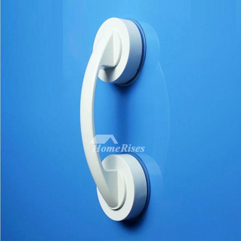 Door Knobs White Simple Bathroom Suction Cup Plastic