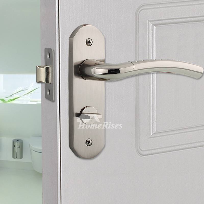 Best Front Door Locks Brushed Zinc Alloy Silver Modern Without Key
