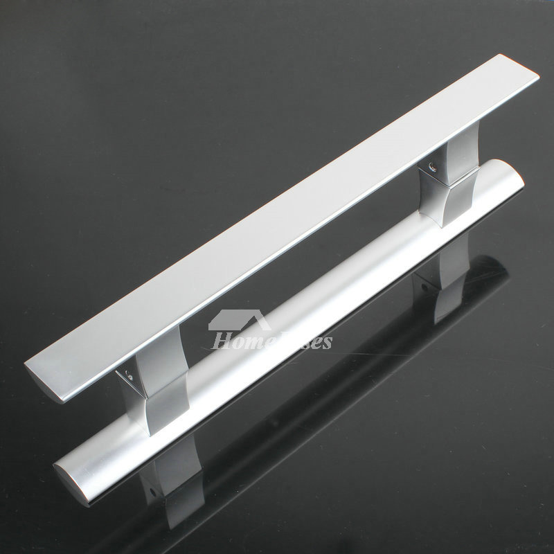 Solid Aluminum 1 Pair Front Door Handles Silver Painting Cheap