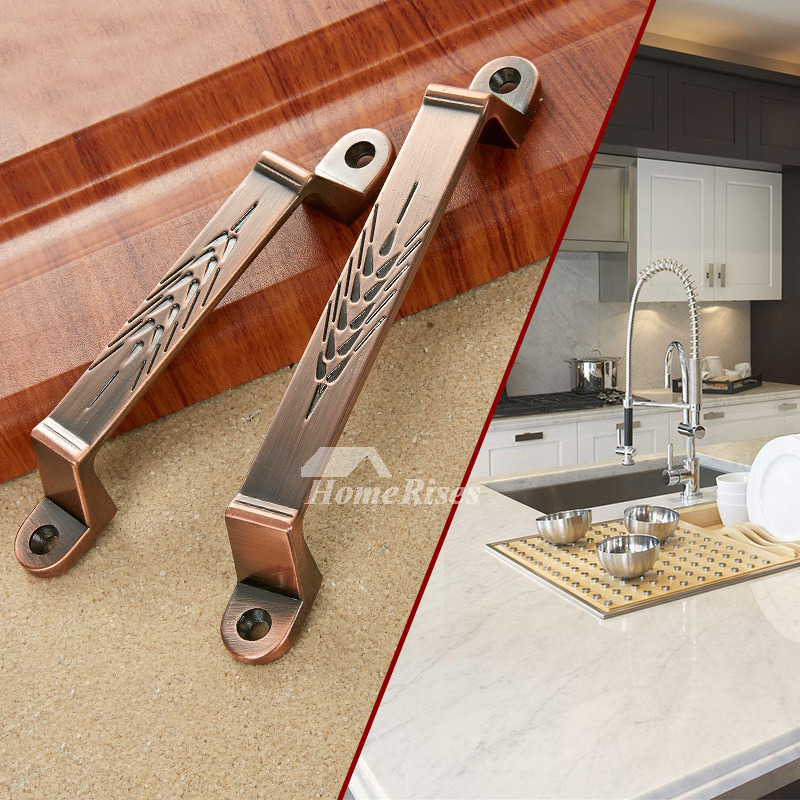 Luxury Kitchen Cabinet Hardware: Luxury Brushed Zinc Alloy Carved Cabinet Knobs And Pulls
