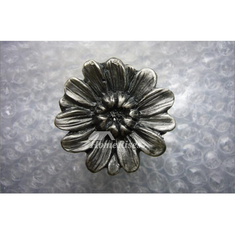 Small Drawer Pulls Alloy Carved Silver Carved Bedroom