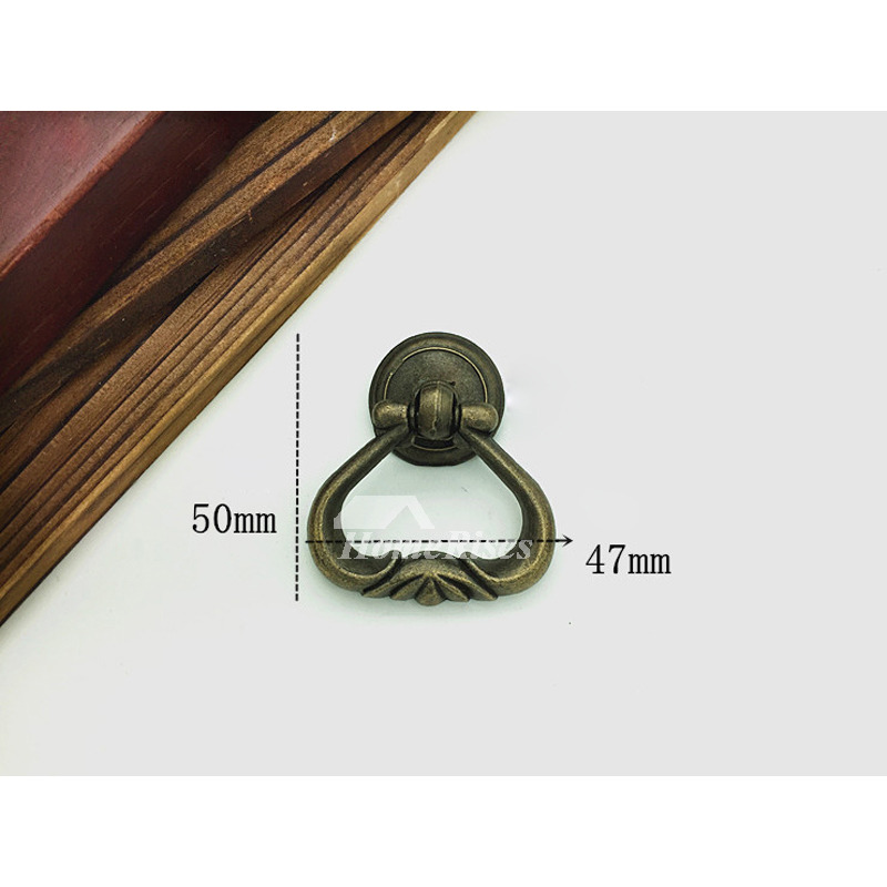 - 2 Inch Cabinet Pulls Antique Bronze Carved Zinc Alloy Bedroom